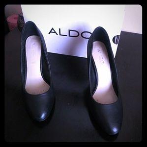 ALDO High Heels 👠 Genuine Leather Black